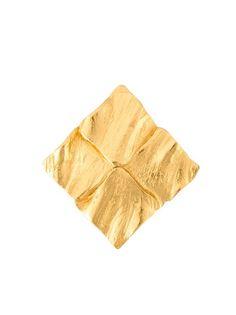 квадратная брошь Yves Saint Laurent Vintage