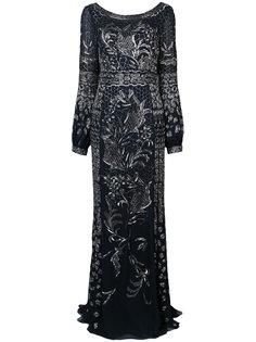 платье с драпировкой сзади J. Mendel