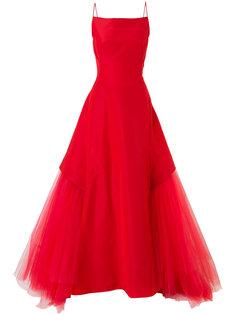 вечернее платье с расклешенной юбкой Zac Posen