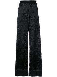 брюки с мятым эффектом Maison Margiela