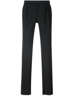 брюки со складками и заниженной талией  Saint Laurent