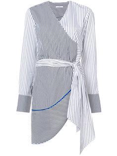 асимметричная блузка в полоску с запахом  Tome
