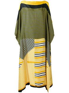 полосатое пляжное платье  Pierre-Louis Mascia