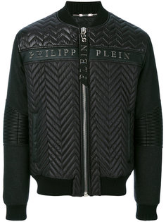 куртка-бомбер с текстурой шеврон Philipp Plein
