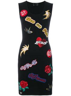 облегающее платье с нашивками Philipp Plein