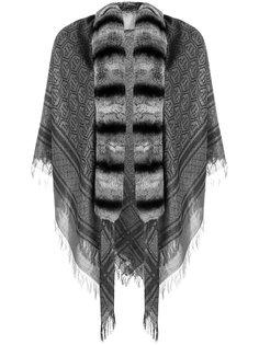 шарф с отделкой из кроличьего меха Philipp Plein