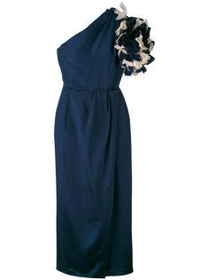 long blue dress Givenchy Vintage