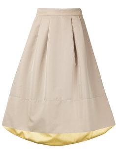 пышная асимметричная юбка длины миди Loveless