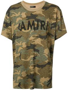 футболка с камуфляжным принтом Amiri