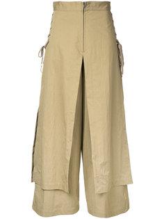 ярусные широкие брюки со шнуровкой  G.V.G.V.