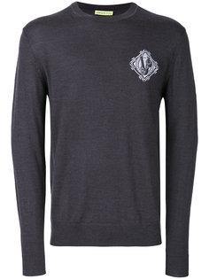 embroidered logo sweatshirt Versace Jeans