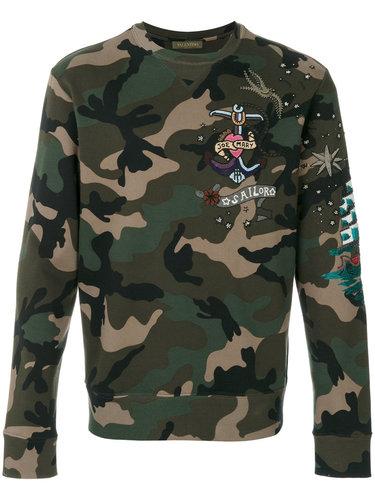 camouflage sweatshirt Valentino