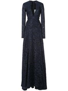 А-образное платье с леопардовым принтом  J. Mendel