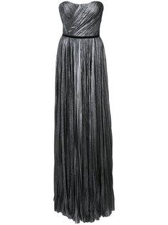 плиссированное платье без бретелек J. Mendel