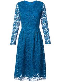 кружевное расклешенное платье  Adam Lippes