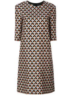 платье-шифт с принтом Portrait  Marni