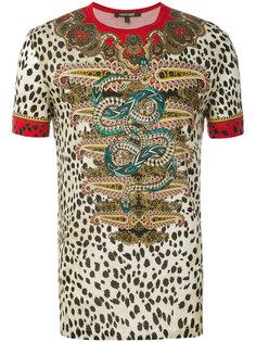 футболка с леопардовым принтом Roberto Cavalli