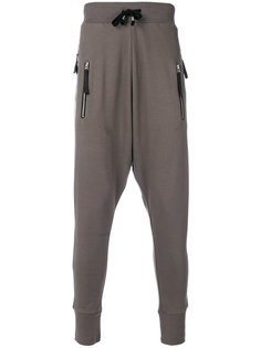 double zip pocket drop-crotch pants Unconditional