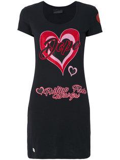 футболка с принтом сердца Philipp Plein