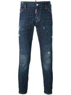 джинсы кроя скинни с брызгами краски Dsquared2
