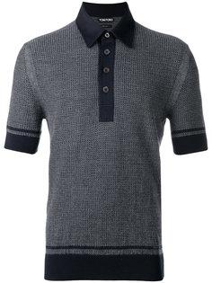 трикотажная футболка-поло с вафельной текстурой Tom Ford