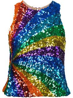 кружевной топ с вышивкой Manish Arora