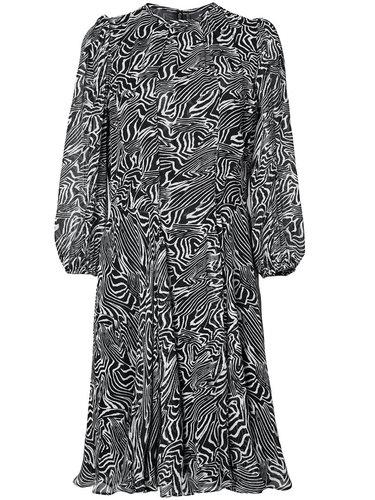 полупрозрачное платье с принтом 'зебра ' Derek Lam