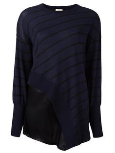 асимметричная блузка в полоску Nude