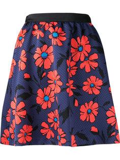 юбка с цветочным узором и плетеным эффектом Loveless