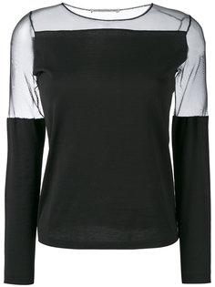 блузка с полупрозрачной отделкой  Stefano Mortari