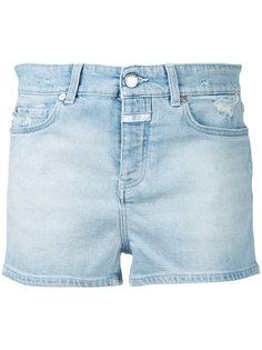 джинсовые шорты с потертостями Closed
