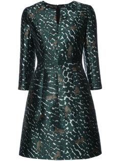 расклешенное платье с леопардовым принтом  Yigal Azrouel