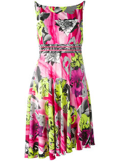abstract floral print dress Versace Collection