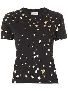 футболка с принтом звезд Red Valentino