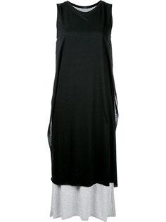 удлиненное двухслойное платье-майка Loveless