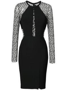 приталенное платье с леопардовым принтом  Yigal Azrouel