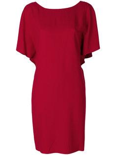 платье с драпировками на рукавах Theory
