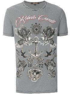 футболка с принтом орла Roberto Cavalli