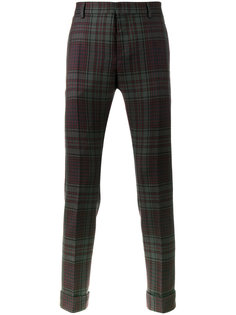 узкий брюки в клетку Valentino