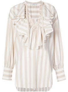 блузка с V-образным вырезом и оборкой  Tome