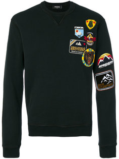 embroidered patch sweatshirt Dsquared2