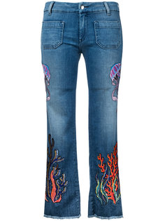 джинсы с вышивкой The Seafarer