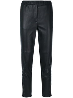 elasticated waistband cropped trousers Outsource Images