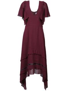 асимметричное полупрозрачное платье  Derek Lam
