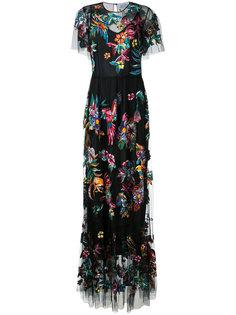 длинное платье с вышивкой Zuhair Murad
