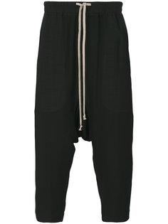 укороченные брюки с заниженной посадкой Rick Owens