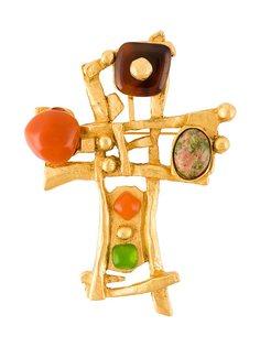 брошь в виде креста Christian Lacroix Vintage