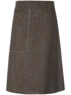 юбка А-силуэта с декоративной строчкой Maison Margiela