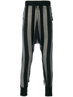 striped drop-crotch trousers Unconditional