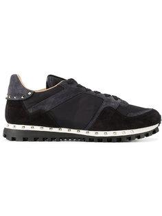 замшевые кроссовки Rockstud Valentino Garavani